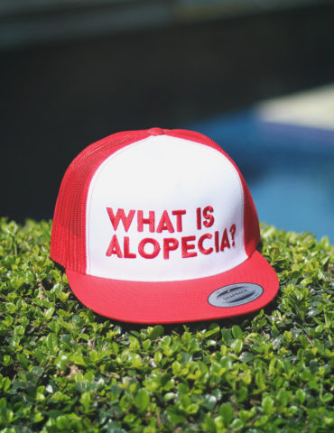 What is Alopecia? Trucker Cap (Red & White)