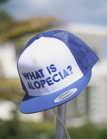 What is Alopecia? Trucker Cap (Royal Blue & White)